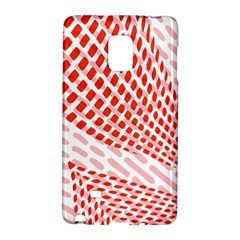 Waves Wave Learning Connection Polka Red Pink Chevron Galaxy Note Edge by Mariart