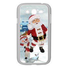 Funny Santa Claus With Snowman Samsung Galaxy Grand Duos I9082 Case (white) by FantasyWorld7