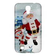 Funny Santa Claus With Snowman Samsung Galaxy Mega 6 3  I9200 Hardshell Case by FantasyWorld7