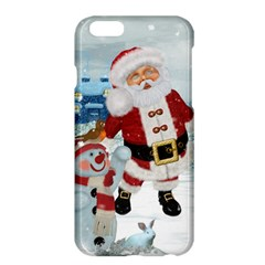 Funny Santa Claus With Snowman Apple Iphone 6 Plus/6s Plus Hardshell Case by FantasyWorld7