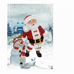 Funny Santa Claus With Snowman Large Garden Flag (two Sides) by FantasyWorld7
