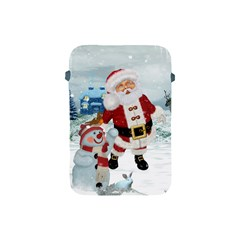 Funny Santa Claus With Snowman Apple Ipad Mini Protective Soft Cases by FantasyWorld7