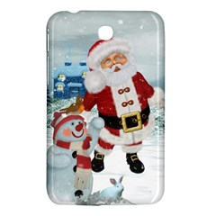 Funny Santa Claus With Snowman Samsung Galaxy Tab 3 (7 ) P3200 Hardshell Case  by FantasyWorld7