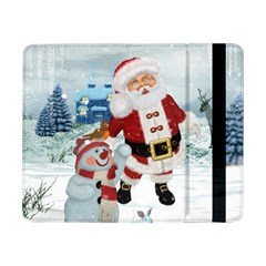 Funny Santa Claus With Snowman Samsung Galaxy Tab Pro 8 4  Flip Case by FantasyWorld7