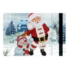 Funny Santa Claus With Snowman Apple Ipad Pro 10 5   Flip Case