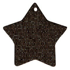 Mosaic Pattern 1 Star Ornament (two Sides) by tarastyle