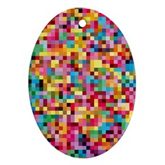 Mosaic Pattern 2 Ornament (oval) by tarastyle