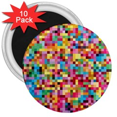 Mosaic Pattern 2 3  Magnets (10 Pack)  by tarastyle
