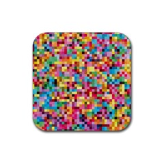 Mosaic Pattern 2 Rubber Square Coaster (4 Pack)  by tarastyle