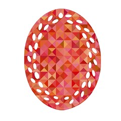 Mosaic Pattern 6 Ornament (oval Filigree) by tarastyle