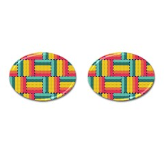 Soft Spheres Pattern Cufflinks (oval)
