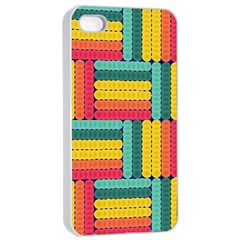 Soft Spheres Pattern Apple Iphone 4/4s Seamless Case (white) by linceazul