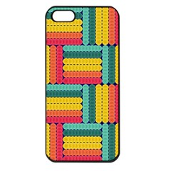 Soft Spheres Pattern Apple Iphone 5 Seamless Case (black) by linceazul