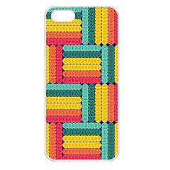 Soft Spheres Pattern Apple Iphone 5 Seamless Case (white) by linceazul