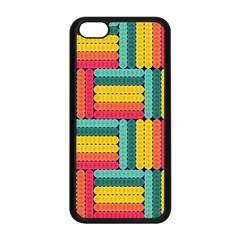 Soft Spheres Pattern Apple Iphone 5c Seamless Case (black) by linceazul
