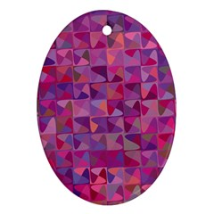 Mosaic Pattern 7 Oval Ornament (two Sides) by tarastyle