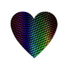 Digitally Created Halftone Dots Abstract Background Design Heart Magnet