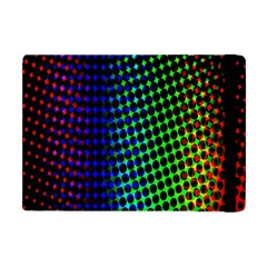 Digitally Created Halftone Dots Abstract Background Design Apple Ipad Mini Flip Case by Nexatart