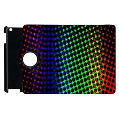 Digitally Created Halftone Dots Abstract Background Design Apple Ipad 2 Flip 360 Case by Nexatart