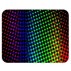Digitally Created Halftone Dots Abstract Background Design Double Sided Flano Blanket (medium)