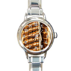 Abstract Architecture Background Round Italian Charm Watch by Nexatart