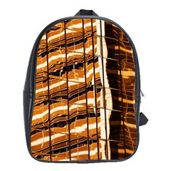 Abstract Architecture Background School Bag (xl) by Nexatart
