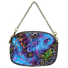 Background Chaos Mess Colorful Chain Purses (two Sides)