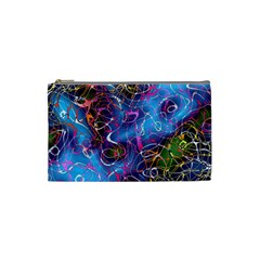 Background Chaos Mess Colorful Cosmetic Bag (small)