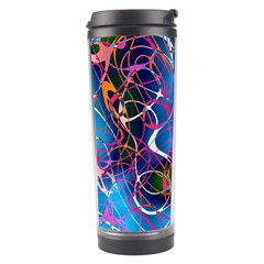 Background Chaos Mess Colorful Travel Tumbler by Nexatart