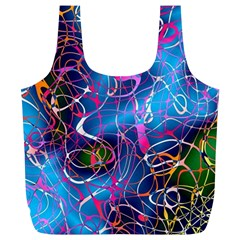 Background Chaos Mess Colorful Full Print Recycle Bags (l)