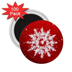 Background Christmas Star 2 25  Magnets (100 Pack)
