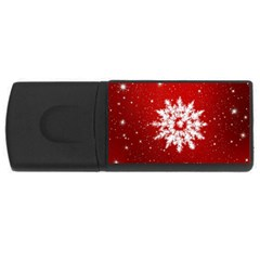 Background Christmas Star Rectangular Usb Flash Drive