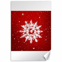 Background Christmas Star Canvas 24  X 36  by Nexatart