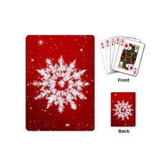 Background Christmas Star Playing Cards (mini)  by Nexatart