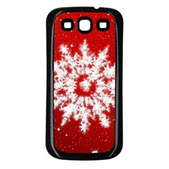 Background Christmas Star Samsung Galaxy S3 Back Case (black) by Nexatart