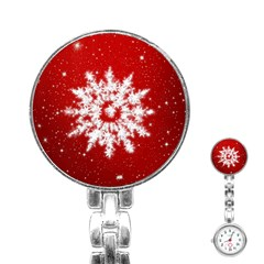 Background Christmas Star Stainless Steel Nurses Watch by Nexatart