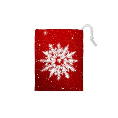 Background Christmas Star Drawstring Pouches (xs)  by Nexatart