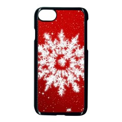 Background Christmas Star Apple Iphone 7 Seamless Case (black)