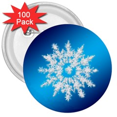 Background Christmas Star 3  Buttons (100 Pack)