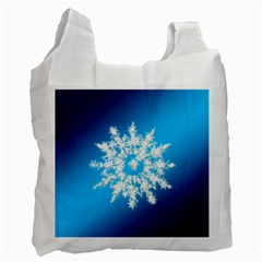 Background Christmas Star Recycle Bag (two Side)  by Nexatart