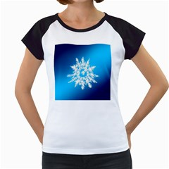 Background Christmas Star Women s Cap Sleeve T