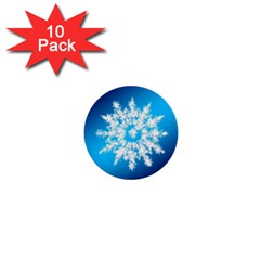 Background Christmas Star 1  Mini Buttons (10 Pack)  by Nexatart