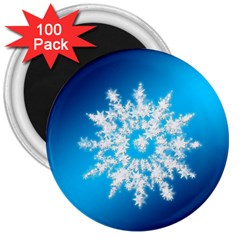 Background Christmas Star 3  Magnets (100 Pack) by Nexatart