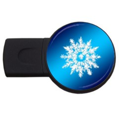 Background Christmas Star Usb Flash Drive Round (2 Gb) by Nexatart