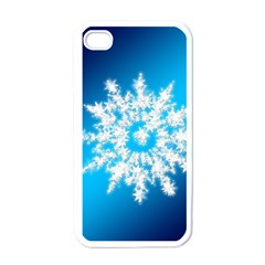 Background Christmas Star Apple Iphone 4 Case (white)