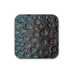 Drop Of Water Condensation Fractal Rubber Coaster (square)