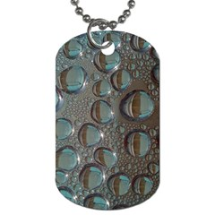 Drop Of Water Condensation Fractal Dog Tag (one Side) by Nexatart