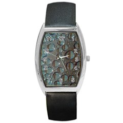 Drop Of Water Condensation Fractal Barrel Style Metal Watch by Nexatart
