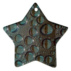 Drop Of Water Condensation Fractal Star Ornament (two Sides) by Nexatart