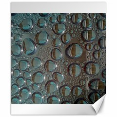 Drop Of Water Condensation Fractal Canvas 8  X 10  by Nexatart